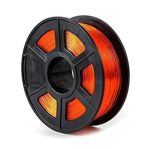 PETG-Filament 1,75mm 3D-Drucker Filament Gute Lichtübertragung 1kg Spule-Transparente Orange_1,75mm