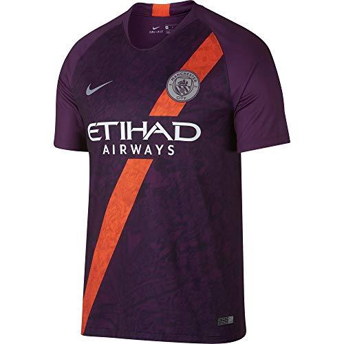 NIKE Manchester City FC Breathe Stadium 3rd Camiseta, Hombre, Night Purple/Reflective Silver, Medium