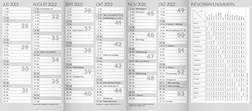 Taschenkalender Ersatzkalendarium 2022 Jahresüberblick Monatsüberblick Kalender 10-70010
