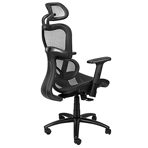 Komene Ergonomic Office Chair Lumbar Support - Reclining Breathable High Back Executive Mesh Chairs with Adjustable 3D Armrest and Headrest Backrest, Rolling Swivel Computer Task Chair for Home