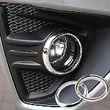 2 uds ABS cromado luz antiniebla delantera antiniebla cubierta de...