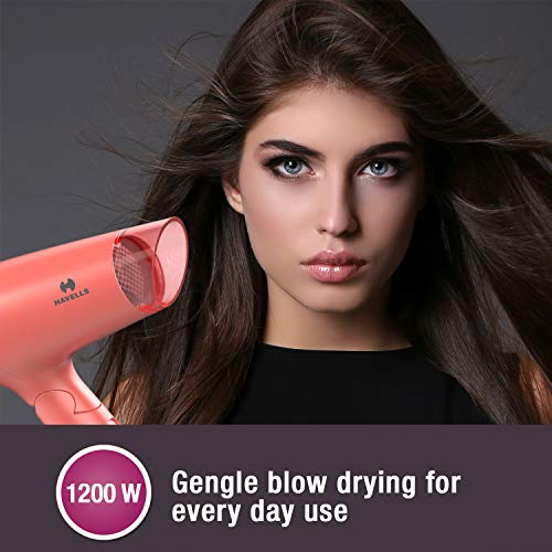 Havells HD2223 1200 W Foldable & Travel Friendly Hair Dryer (Coral)