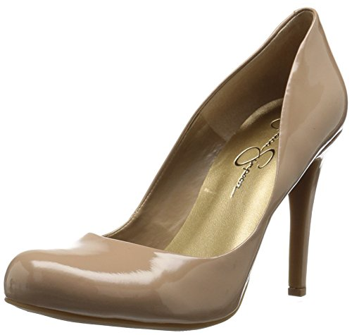 Jessica Simpson Women's Calie Pump,Nude Patent,5 M US