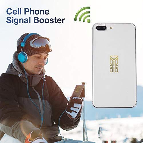 Renoble Signalverbesserung Für Mobiltelefone Signalverstärker Verbessern Sie Die Aufkleber Aufkleber Für Mobile Antennen SP-4 Aufkleber Für Handyverstärker Camping Tools Signalverstärker 10PCS
