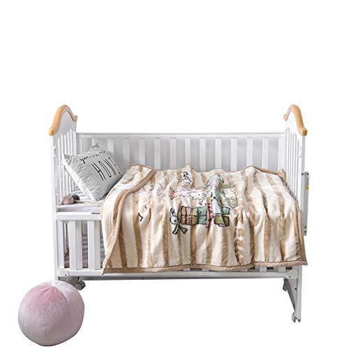 Xief Couverture pour bébé, Un jeté, Plaids en Peluche Nursery Doux pour Lit pour Enfant Lit bébé Pram Couverture Flanelle Couverture en Molleton pour Enfants de Nouveau-nés Literie Brown Stripes