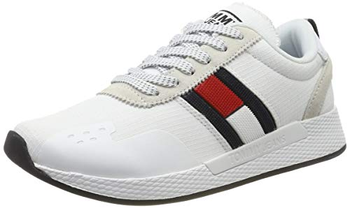 Tommy Hilfiger Damen Technical PIN Logo Sneaker, Weiß (White 100), 39 EU