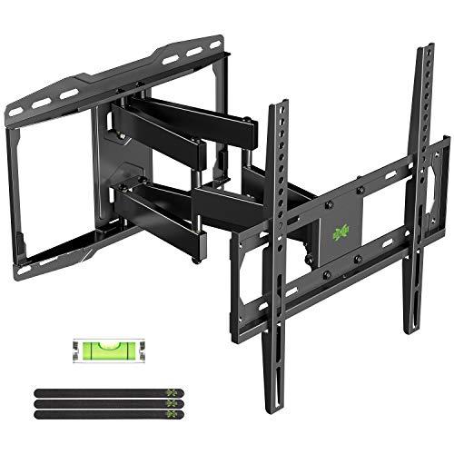 USX-MOUNT TV Halterung, TV Wandhalterung Schwenkbar Neigbar für 66-140cm (26-55 Zoll) LED, LCD, OLED, Plasma Fernseher oder Monitor mit VESA 75x75-400x400mm bis zu 45kg