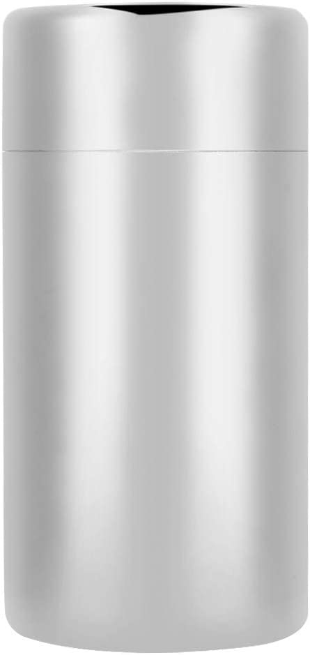 TOPINCN Tea Leaf Storage Jar Food Grade 304 Stainless Steel Coffee Bean Container Canister Portable Double Seals(L Size 550ml)