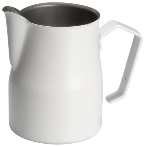 Motta 8007986024503 Europa Milchkännchen, Professional Antihaft 500 ml, Stahl, weiß, 12,5 x 7 x 10,5 cm