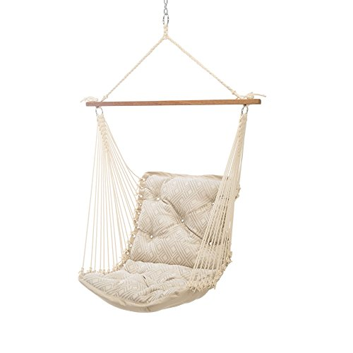 Hatteras Hammocks Sunbrella Tufted Single Swing - Integrated Pewter