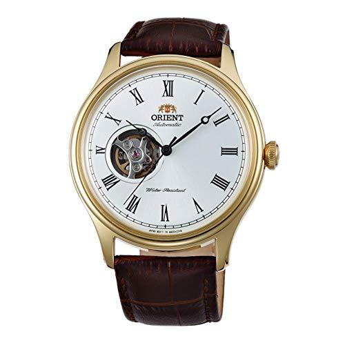Orient Unisex Erwachsene Analog Automatik Uhr mit Leder Armband FAG00002W0