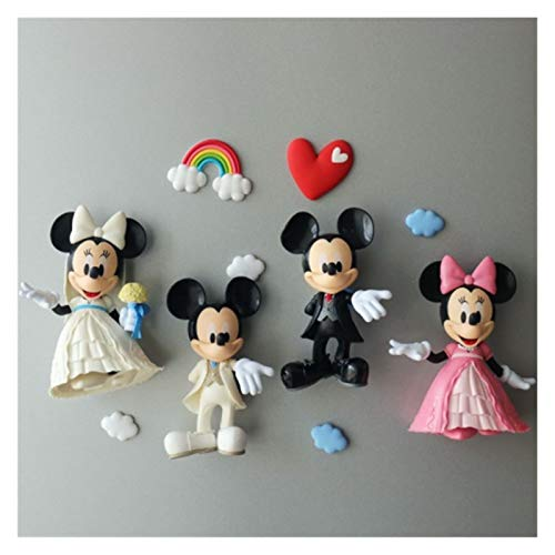 JSJJAET Imán de refrigerador Dibujos Animados Frigorífico Magnet Mickey Mouse Minnie Daisy Donald Duck Decoraciones para el hogar Frigorífico imán de Recuerdo imanes Decorativos (Color : 14)