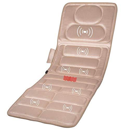 Barir Colchoneta de Masaje con calefacción de Cuerpo Completo, masajeador de Terapia de Calor de Espalda Plana, Silla o Cama de Piso, Funciones de vibración de Calor Ajustables