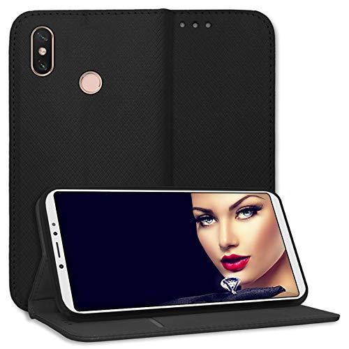 mtb More Energy Funda Bookstyle para Xiaomi Mi MAX 3 (6.9'') - Negro - Cuero...
