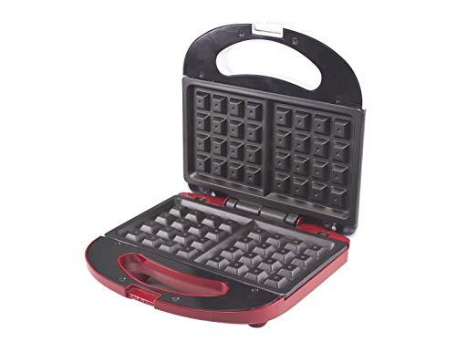 Beper BT.602H Piastra per waffle,780 Watt,Piastra antiaderente,2 Spie luminose,Avvolgicavo,piedini antiscivolo ,Bianco e Rosso