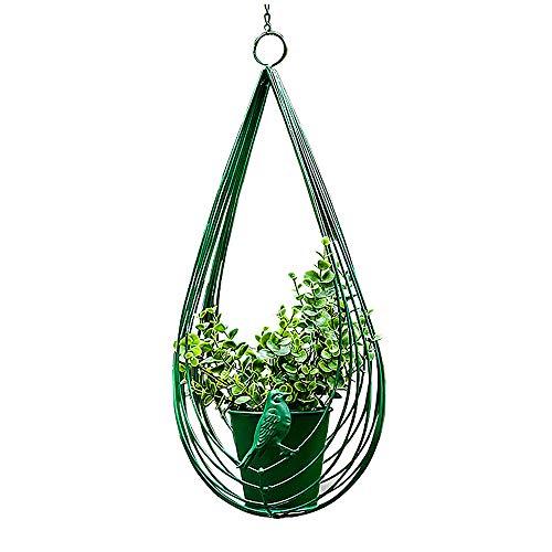 PLHMS Macetas Colgantes, Jardinera Colgantes Canasta de Metal para Flores, Moderno Ovalado para Interiores y Exteriores, para decoración del jardín del hogar, para pequeñas Plantas suculentas