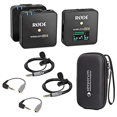 Rode Wireless GO II 2-Kanal Mikrofon-Funksystem + 2X Smartlav + 2X SC3 + keepdrum Soft-Case
