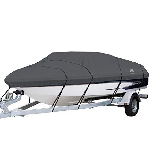 Classic Accessories StormPro Waterproof Heavy-Duty Boat Cover, Fits boats 17 ft - 19 ft long x 102 in wide