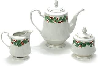 Noel by Sango, China 3-PC Tea Service