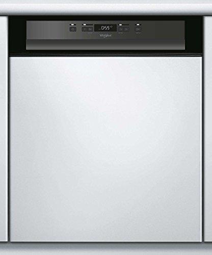 Lave vaisselle encastrable 60 cm Whirlpool WBC3C26B - Lave vaisselle integrable Bandeau noir - Classe énergétique A++ / Affichage temps restant - Départ différé