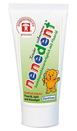 Nenedent Kinderzahncreme Homöopathieverträglich mit Fluorid, 50 ml