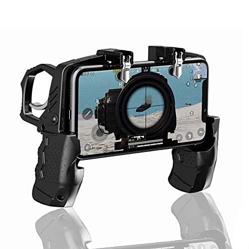 GOFOYO K21 モバイルゲームコントローラー PUBG/Call of Duty/Fortnite用 トリガー Fire Buttons L1R1 シューター センシティブ ジョイスティック ゲームパッド 4.7-6.5インチ iPhone & Android携帯電話用