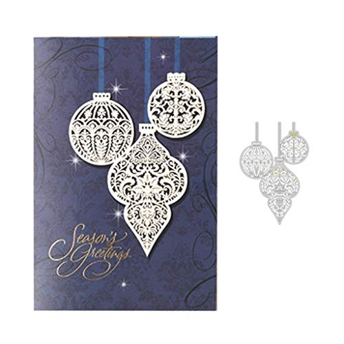 YiFeiCT Christmas Decorative Ball Metal Cutting Dies Stencil ,Embossed Carbon Steel Mould, for DIY Scrapbook, Notebook, Album, Paper Card Crafts, Gift Decoration