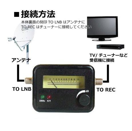 『自分で測定出来る!BS/CSアンテナ用 レベルチェッカー BL0054BS-2』の2枚目の画像
