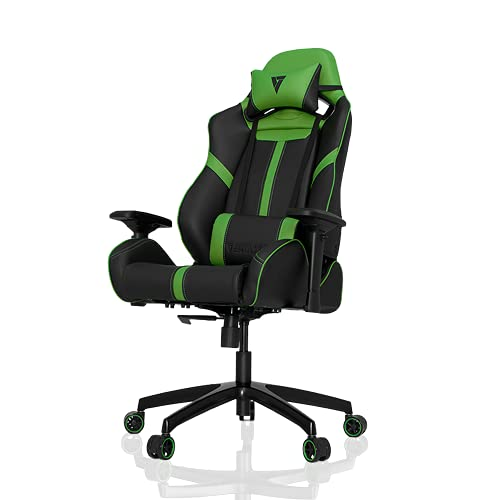 Silla para juegos Vertagear S-Line 5000, piel sintética, negro/verde,...