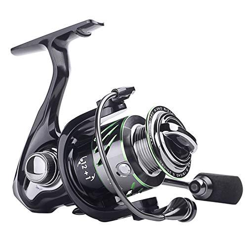 TASGK Carrete de Pesca con Rodamientos de Metal 5,2:1 Giratorio MAX Reel Potencia de Arrastre Pesca de Carpa Aparejos de Lubina,3000Series
