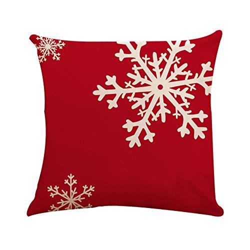 SSUPLYMY Weihnachten Kissenbezug, Square Cotton Linen Toss Pillowcase Hidden Zipper Closure Premium Qualität kopfkissen kissenbezüge Sofa Schlafzimmer Büro Auto 45cm x 45cm