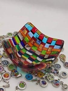 Mondo Italiano Firenze Centro de mesa de cristal de Murano colores Murano multicolor
