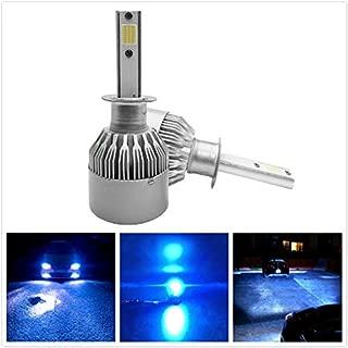 Torofibi Ice Blue Color H1 LED High Beam/Fog Light Bulbs kits -COB Flip Chips/Adjustable Beam Pattern-60W 7600LM 6000K (Pack of 2)