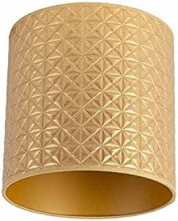 QAZQA Algodón y poliéster Pantalla dorada triángulos 25/25/25, Redonda/ Cilíndrica Pantalla lámpara colgante,Pantalla lámpara de pie: Amazon.es: Iluminación