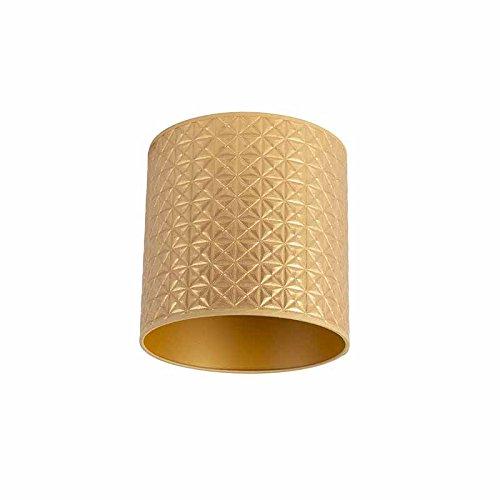 QAZQA Lampenkap goud 25/25/25 triangle dessin, Rond recht hang kap,staande kap