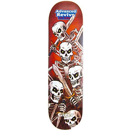 ReVive Skateboard-Brett / Deck, Giger Skeletons, mehrfarbig, 20,32 cm (8 Zoll)