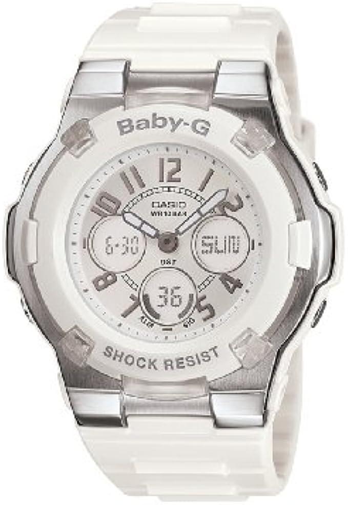 Casio Women's BGA110-7B Baby-G Shock-Resistant White Sport Watch