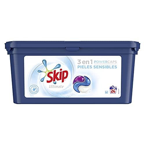 Skip Ultimate Detergente Capsulas 3en1 Pieles Sensibles 24lav