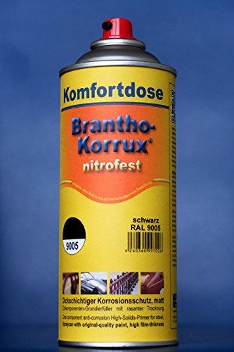 "Brantho Korrux ""nitrofest"" 400 ml RAL 9005, schwarz, Komfort-Sprühdose, Rostschutzfarbe"