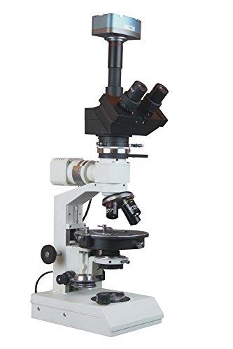 Radical profesional trinocular microscopio de polarización Mena la luz incidente W 5MP cámara