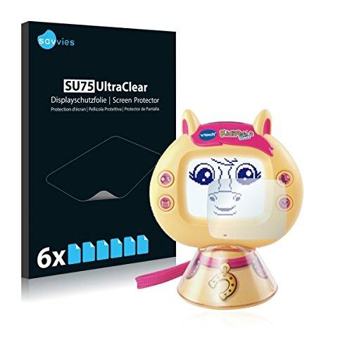 6x Savvies SU75 UltraClear Displayschutz Schutzfolie für Vtech KidiPet touch 2 (Pony) (ultraklar, einfach anzubringen)