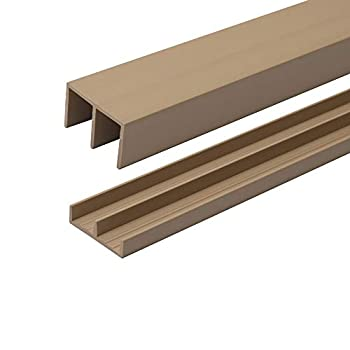 4 Ft Long Beige Plastic Sliding Door Track Set for 1/2  Thick Panels  Pack of 1  by Outwater Plastics