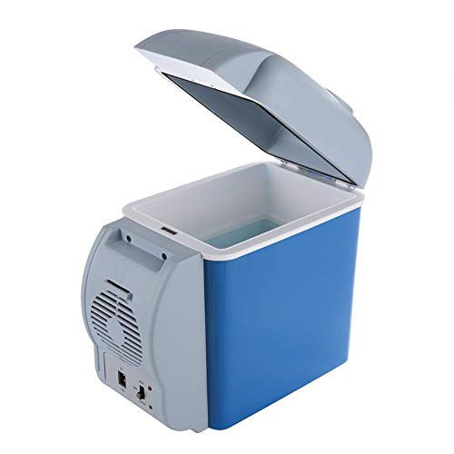 Mini-Autokühlschrank, Elektrische Kühlbox, 7.5L Auto-Kühlbox mit Schultergürtel Auto-Stromleitung für Reisebüros Autos Picknicks BBQ