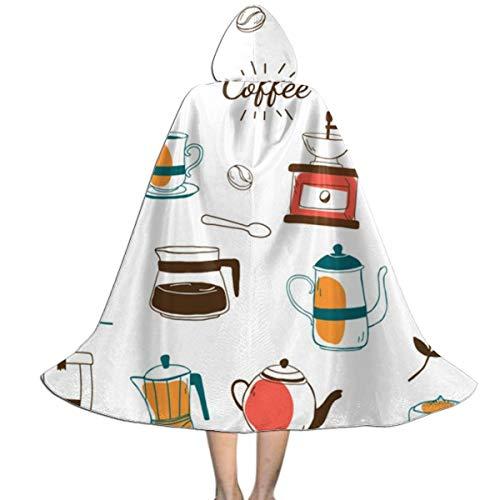 Melinda Perrodin Coffee House Cafe Patterned Capa de Halloween para niños con Capa de...