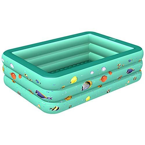 Piscina familiar rectangular para niños, juguetes de jardín al aire libre para niños y niñas