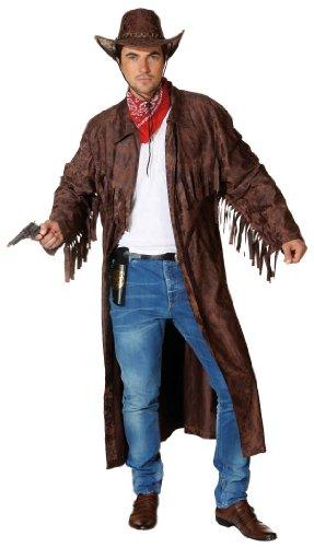 Orlob Westernmantel in braun zum Herren Kostüm Cowboy zu Karneval Gr.54-58