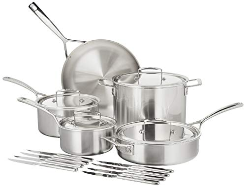 ZWILLING J.A. Henckels Aurora Cookware Set, 10-piece, Stainless Steel