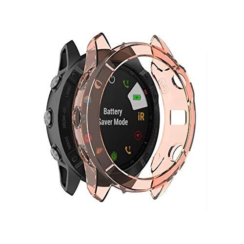 Wdckxy - Funda protectora de pantalla para reloj Garmin Fenix 6X (TPU), color naranja