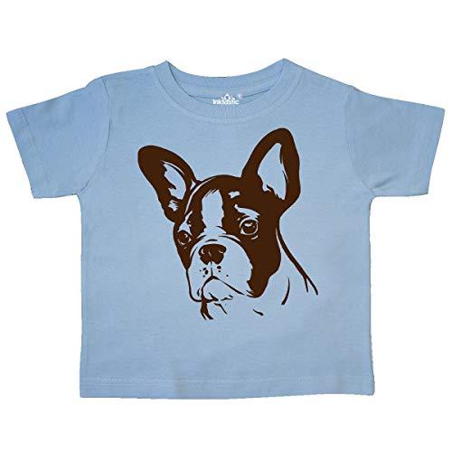 inktastic Cute Frenchie Bulldog Silhouette Toddler T-Shirt 5-6 Light Blue 3d73b