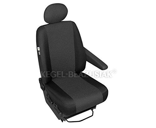 ZentimeX Z999947 Sitzbezüge Beifahrersitz / Einzelsitz Armlehne links Stoff schwarz Airbag-Kompatibel